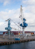 Port cranes Stock Image