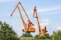 Port cranes Royalty Free Stock Image