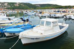 Port on the Croatian coast Royalty Free Stock Photography