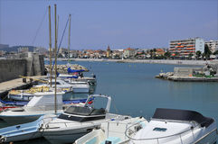 Port of Cros at Cagnes in France Royalty Free Stock Images