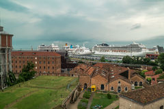 Port cruise liners Venice Royalty Free Stock Photo
