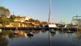 Port d'île d'Arkoi Photographie stock