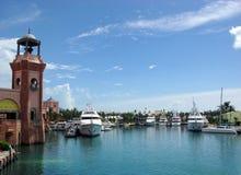 Port d'île de paradis image libre de droits