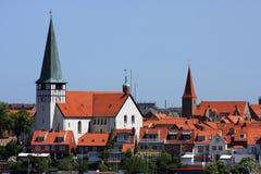 Port d'île du Danemark Bornholm de Ronne Images libres de droits
