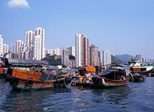 Port d'Aberdeen, Hong Kong Image stock