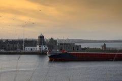 Port d'Aberdeen l'Ecosse, UK image libre de droits