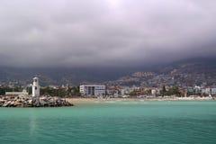 Port d'Alanya Photos stock