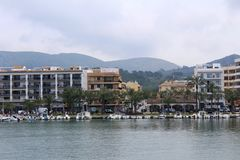Port d`Alcúdia, in Mallorca Royalty Free Stock Photography