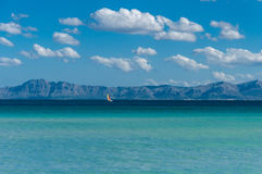 Port d'Alcudia. Beach Alcudia  in Spain island Mallorca  in late summer Stock Photography