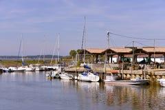 Port d'Andernos-les-bains dans les Frances Photo libre de droits