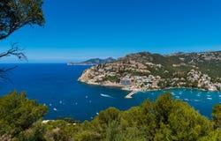 Port d'Andratx Mallorca. High angle view on Port d'Andratx, Mallorca, Balearic Islands, Spain Stock Image