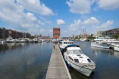 Port d'Anvers au soleil Photographie stock libre de droits