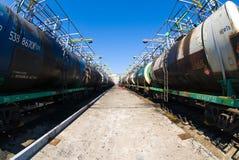 Port d'arrivée ou de départ pour le pétrole Photographie stock