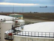 Port d'arrivée ou de départ pour le pétrole Photo stock