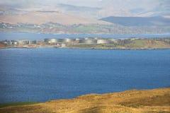 Port d'arrivée ou de départ pour le pétrole de Whiddy Photographie stock libre de droits