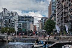 Port d'avant de l'eau d'Aker Brygge en Norvège Photos stock
