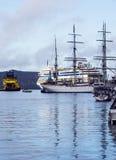 Port d'embarquement de Bergen Photos stock