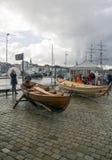 Port d'embarquement de Bergen Photos libres de droits