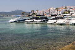 Port d'Espagnol de Fornells Photos stock