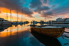 Port d'hiver Image stock