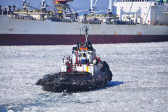 Port d'hiver remorquage Photos stock