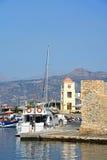 Port d'Ierapetra, Crète Images stock
