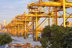 Port d'industrie de Singapour Photographie stock