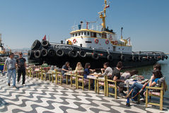 Port d'Izmir, Turquie Photographie stock libre de droits