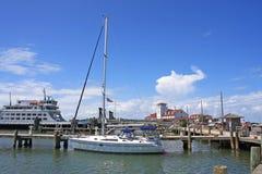 Port d'Okracoke Photos libres de droits