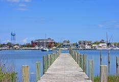Port d'Okracoke Photo stock