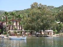 Port d'Ucagiz près de l'île de Kekova et de la ville submergée Simena en Turquie Photo libre de droits