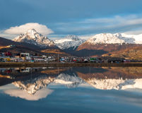 Port d'Ushuaia, Tierra del Fuego, Patagonia, Argentine Photos stock