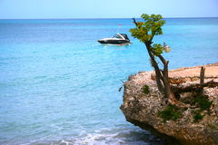 Port Salut, Haiti. One of quiet beaches in Haiti where you can spend a refreshing week-end stock images