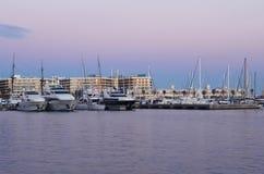 Port dans Alicante Photos libres de droits