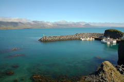 Port dans Arnarstrapi Photographie stock