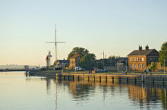 Port dans Bretagne Images stock