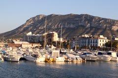 Port dans Denia Photos stock