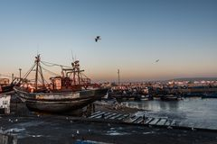 Port dans Essaouira Photographie stock