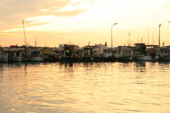Port dans Glyfada Photos libres de droits