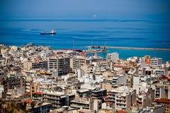 Port dans la ville de Patra, Grèce Photo stock