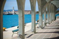 Port dans la ville de Zante Photographie stock
