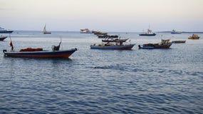 Port dans la ville en pierre, Zanzibar Image libre de droits