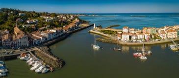 Port dans le saint Jean de Luz france photos libres de droits