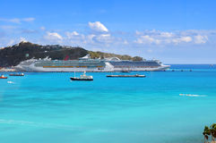 Port dans le saint Martin Photos stock