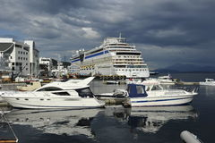 Port dans Molde, Sud-Norvège Photographie stock