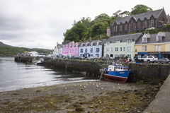 Port dans Portree, Ecosse photos libres de droits