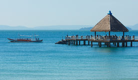 Port dans Sihanoukville Image libre de droits