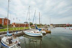 Port dans Ventspils, Lettonie image stock