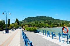 Port de Badacsony au lac Balaton photos stock