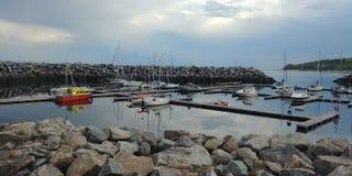 Port de Baie-Comeau photographie stock